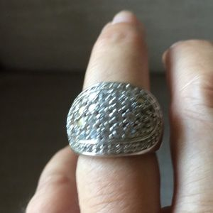 Sterling silver ring flat fit to finger